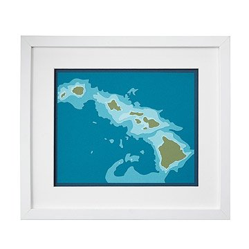Hawaiian Islands Papercut Art