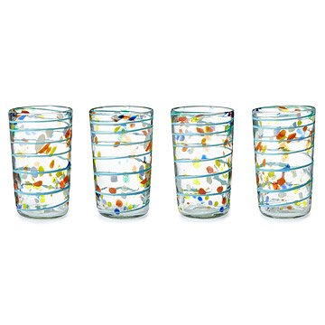 Recycled Confetti Glassware - Set of 4