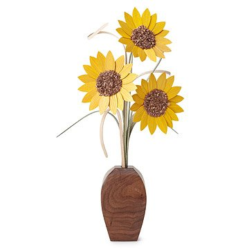 Decorative Wood Sunflowers