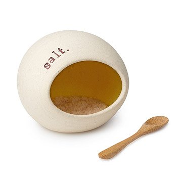 Salt Cellar with Bamboo Spoon