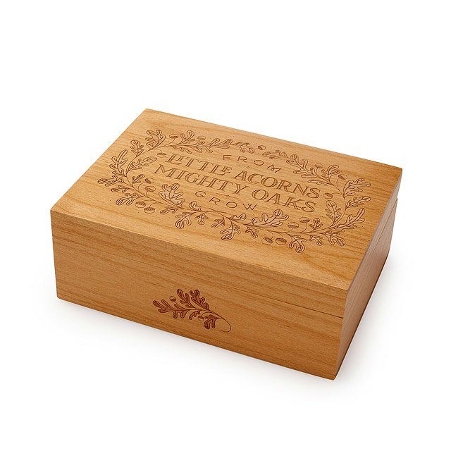 Mighty Acorn Heirloom Keepsake Box