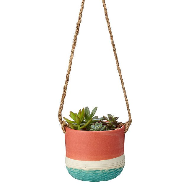 Coral Carved Hanging Planter