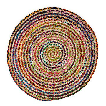 Twisted Sari & Hemp Area Rug