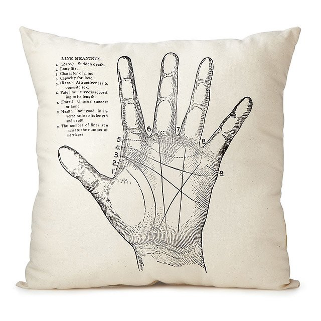 Palmistry Pillow