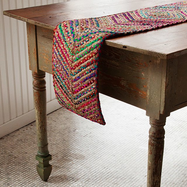 Sari Chevron Table Runner