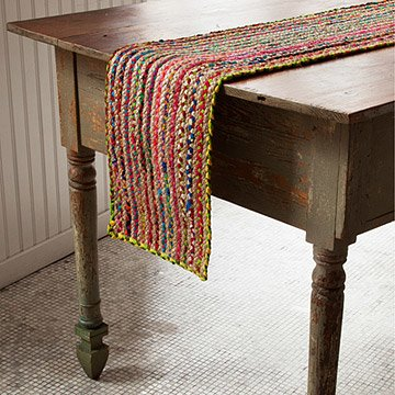 Sari and Hemp Table Runner