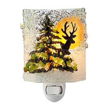 Recycled Glass Deer Nightlight