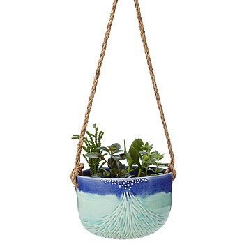 Volcano Flow Carved Hanging Planter