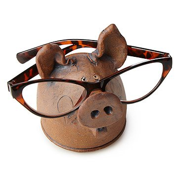 Pig Eyeglasses Holder
