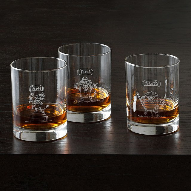 The 7 Deadly Sins Glasses - Set of 7 3