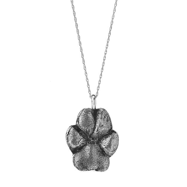 Custom Pet Paw Print Necklace