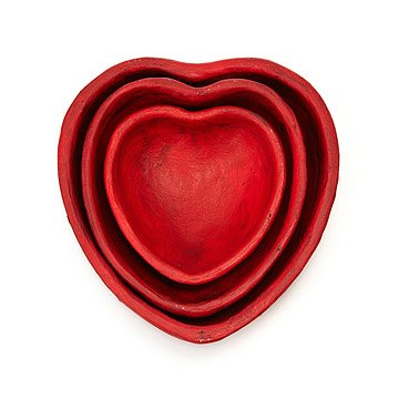 Nesting Heart Bowl Trio