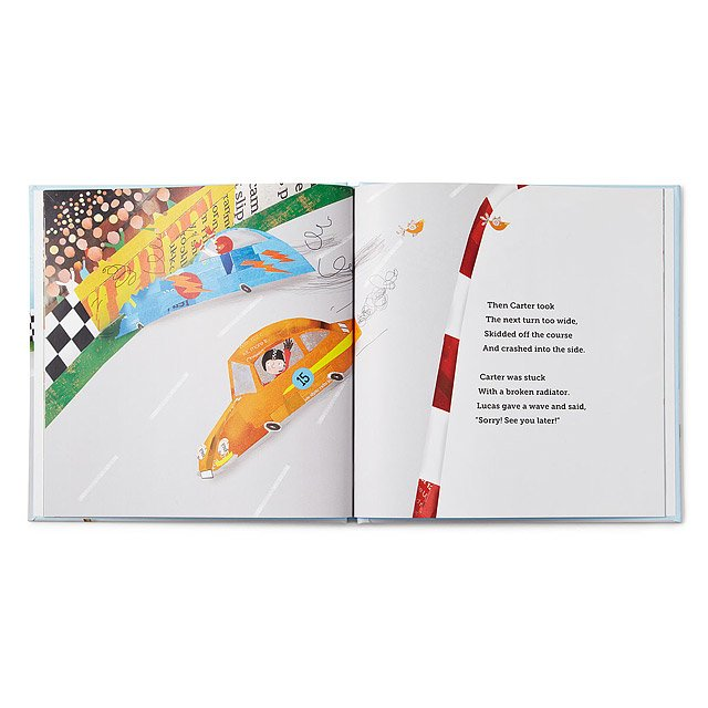 Little Boy's Personalized Speedster Book 4