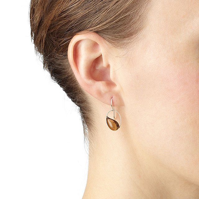 Raindrop in Oval Earrings 2