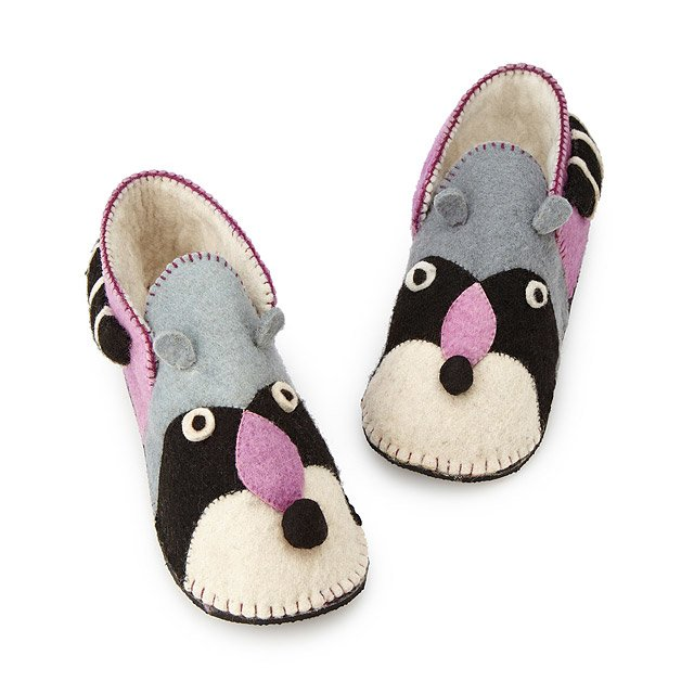 Handmade Raccoon Slippers