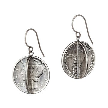 Mercury Silver Dime Earrings