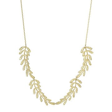 Vine Gold Dipped Lace Necklace