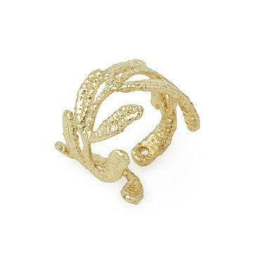 Vine Gold Dipped Lace Ring