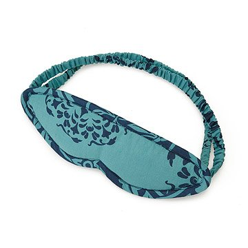 Teal and Grey Leaves Reversible Sleep Mask
