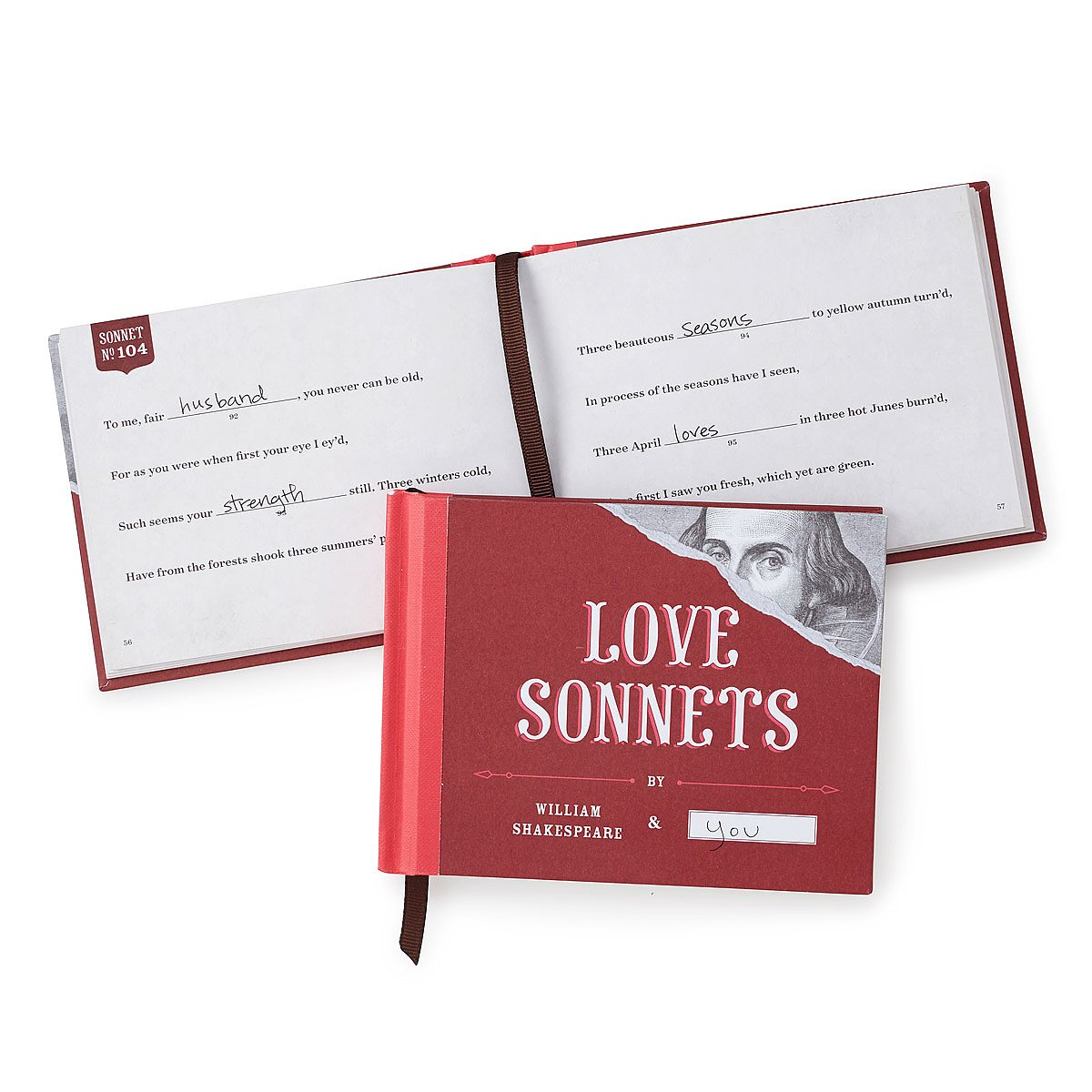 Love Sonnets - Fill in the Blanks Book
