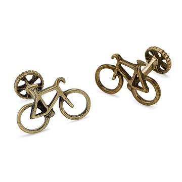 Bronze Bicycle Cufflinks