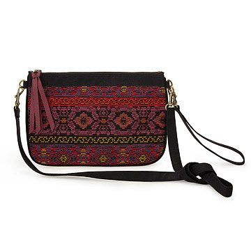 French Brocade Top Zip Crossbody