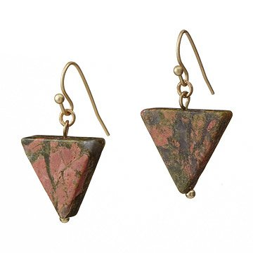 Earth Elements Triangle Earrings