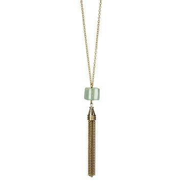 Cube Tassel Necklace