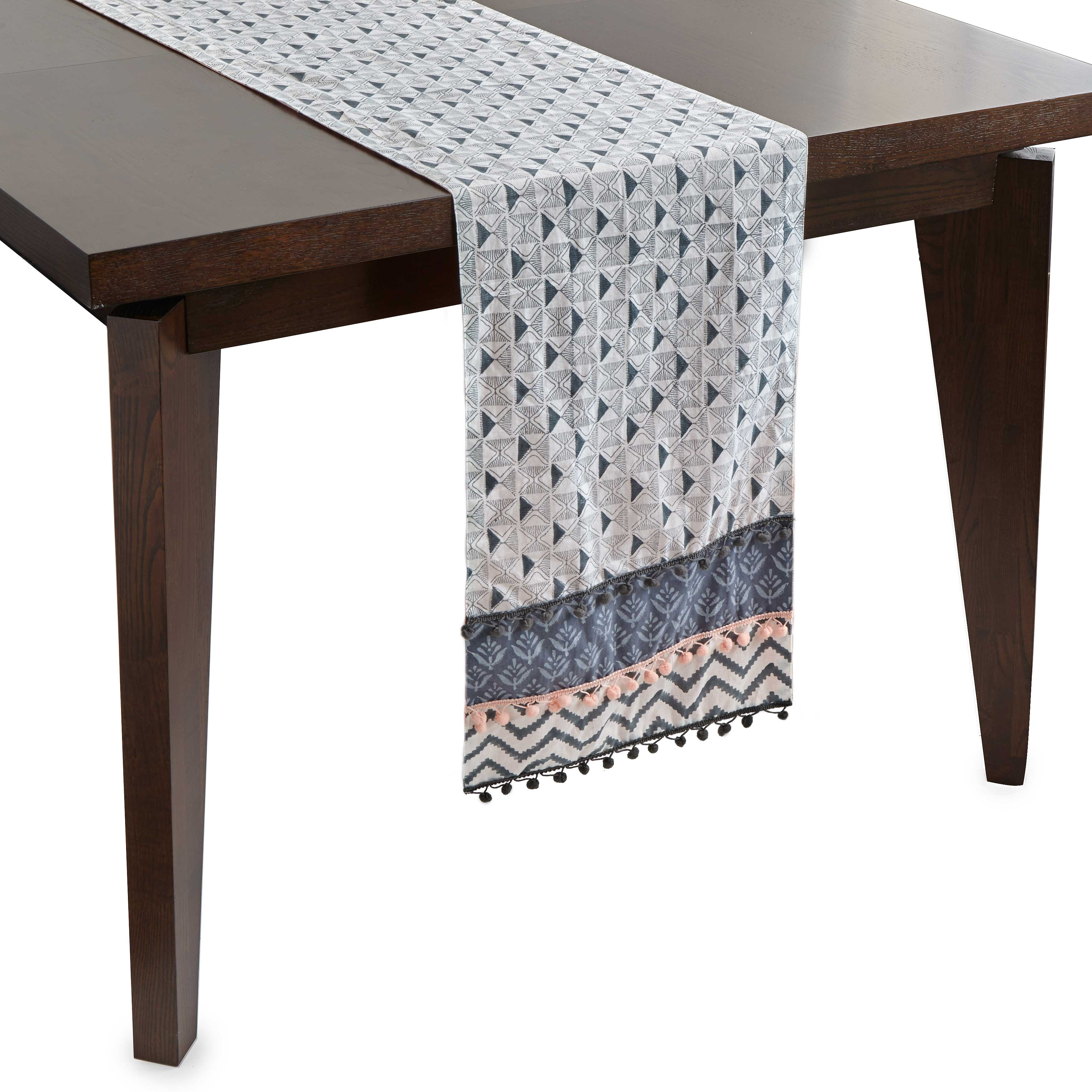 Layered Block Print Table Runner Table Linen Uncommongoods