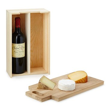 Wine Bottle Carrier with Cutting Board