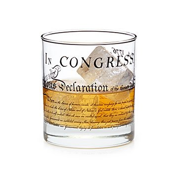 Declaration of Independence Glass