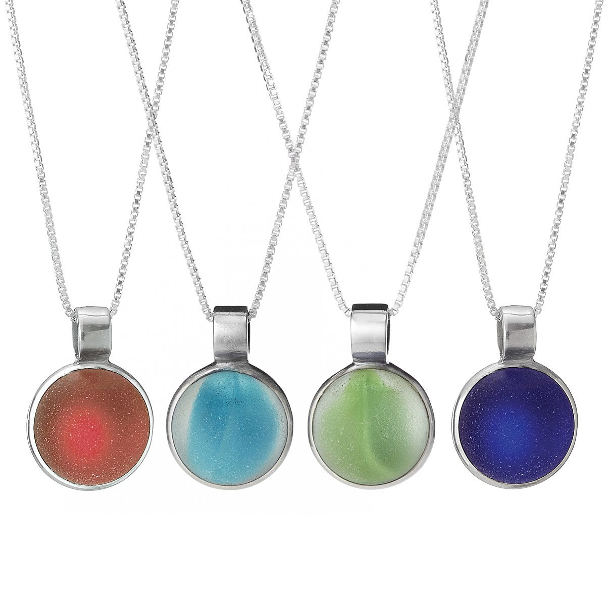 Beach Glass Marble Pendant