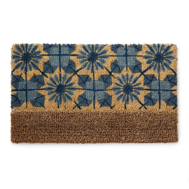 Shibori Doormat with Bootscrape