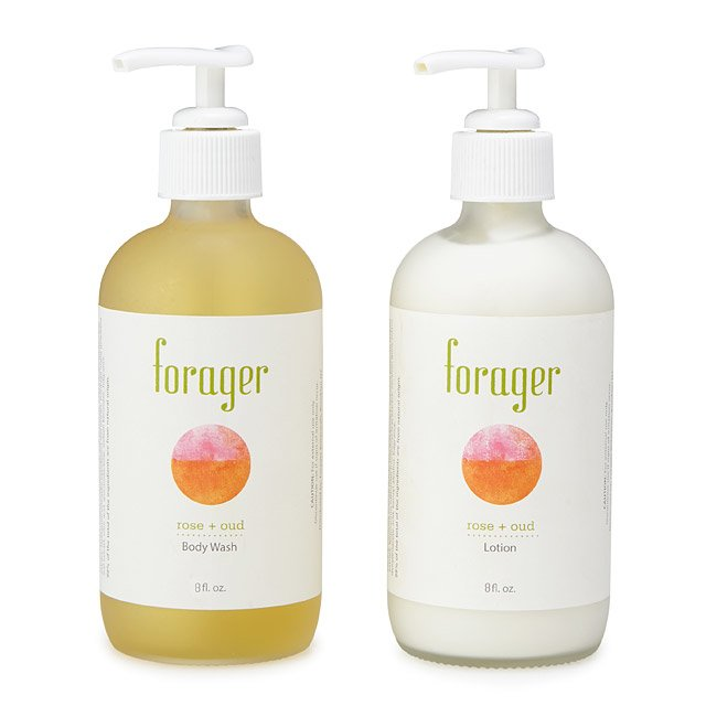 Lux Rose and Oud Body Lotion and Body Wash Set