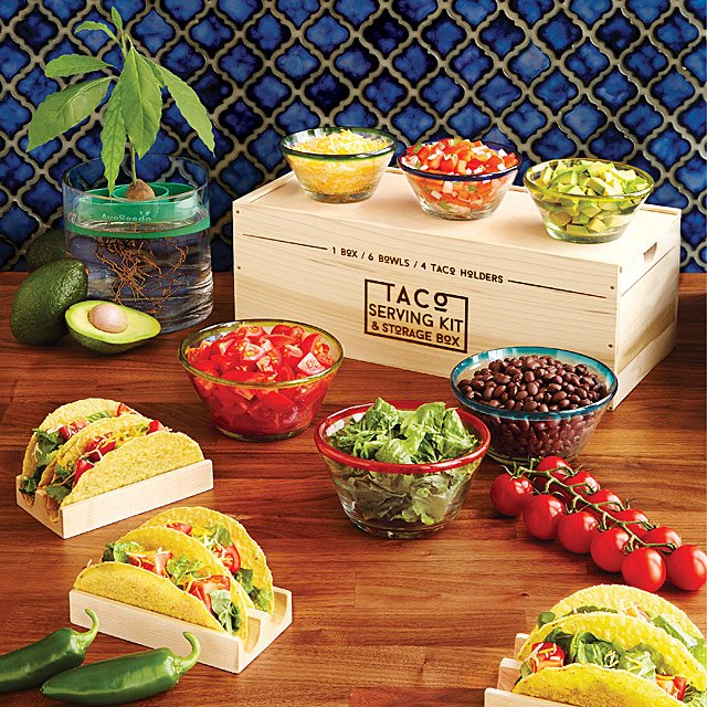 Taco Serving Kit and Storage Box