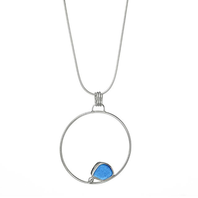 Circle of Life Sea Glass Necklace