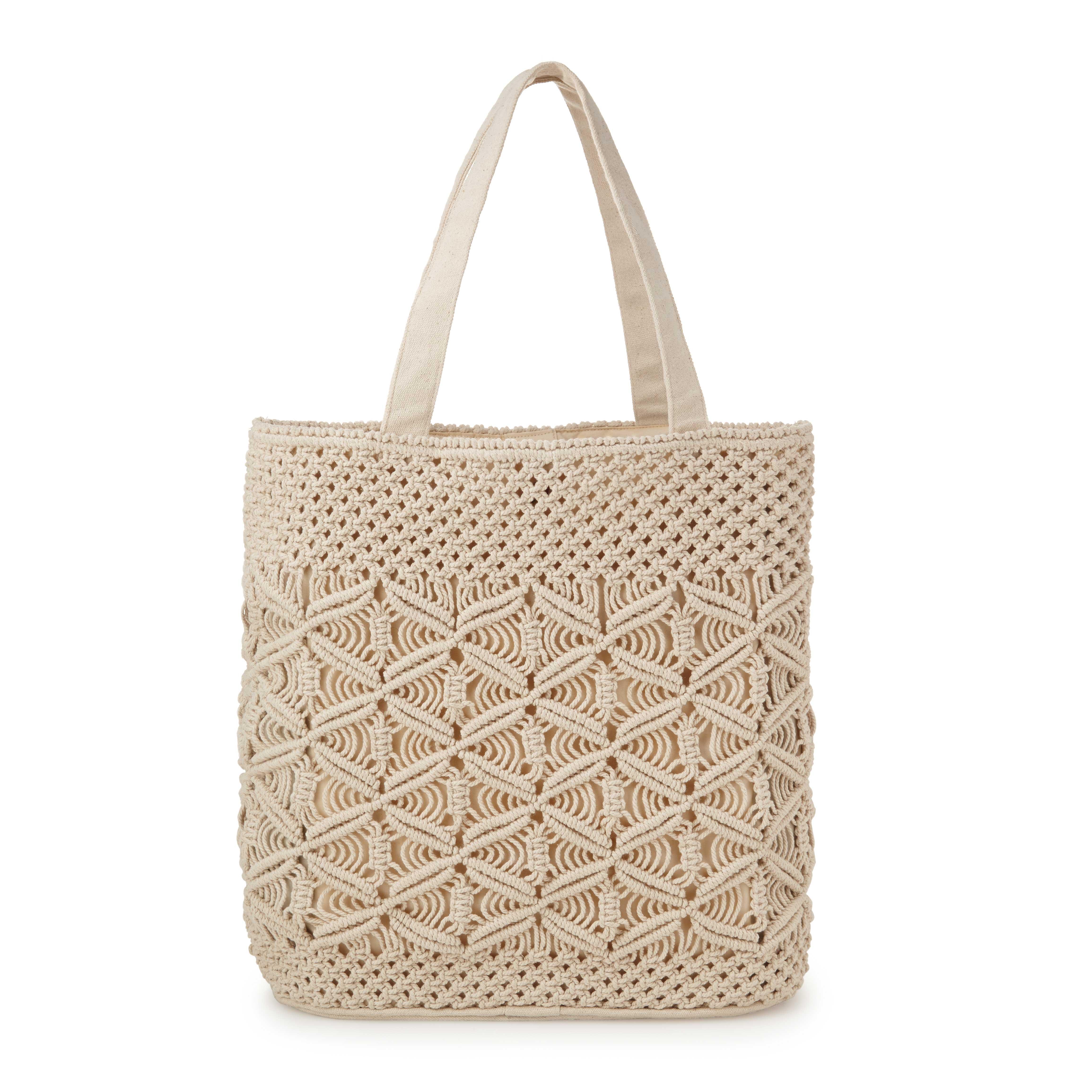 Handmade Macrame Tote Macrame Bag Uncommongoods