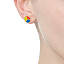 Color Wheel and Grayscale Mismatched Earrings 2 thumbnail
