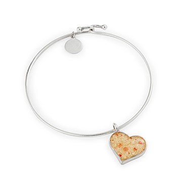 Custom Beach Heart Bangle