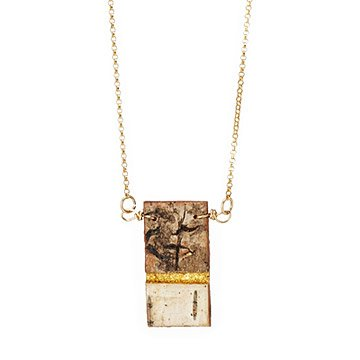Gilded Bark Necklace