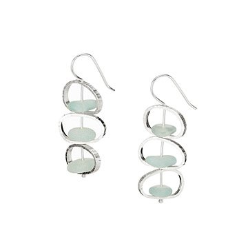 Sea Glass Stacking Earrings
