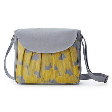 Canary Screenprinted Crossbody Bag