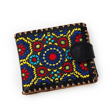 Tangiers Bi Fold Embroidered Wallet