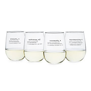 Life By Definition Wine Glasses - Set of 4