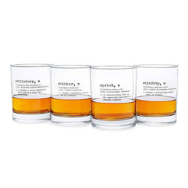 Life By Definition Whiskey Glasses - Set of 4