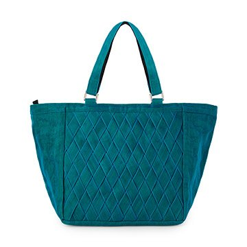Convertible Teal Netting Tote