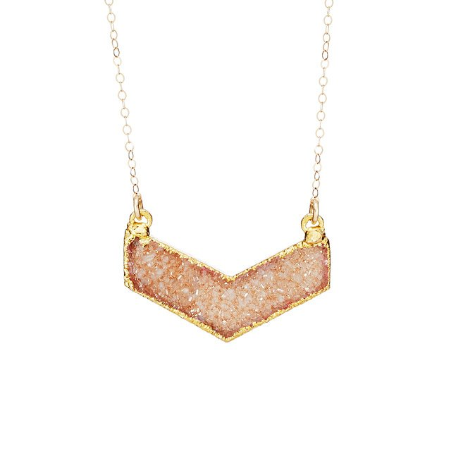 Druzy Chevron Necklace