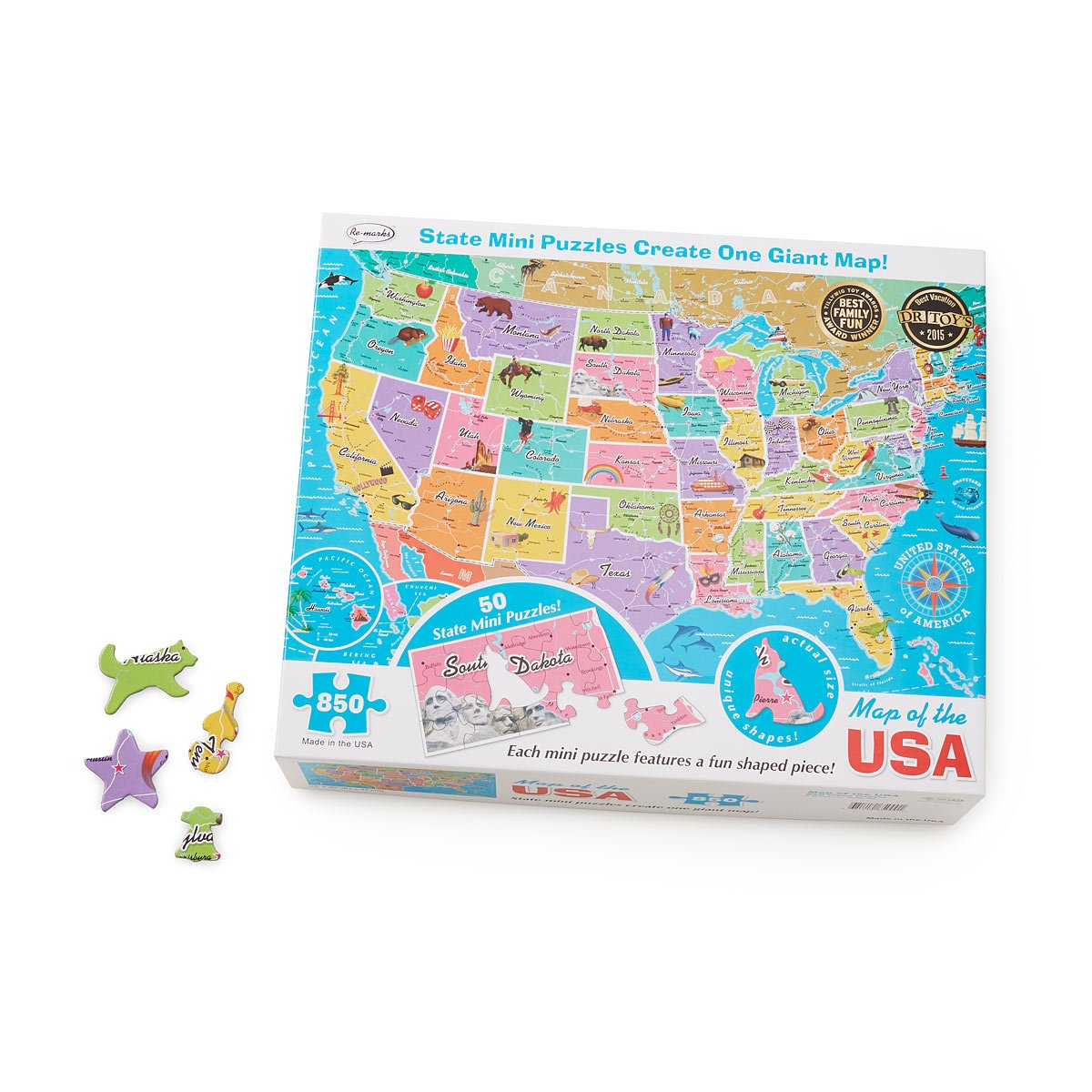 States Puzzle Within A Puzzle Map Of USA States US Map - Us states map puzzle game