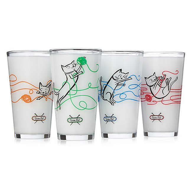 Yarn Cat Tumblers - Set of 4