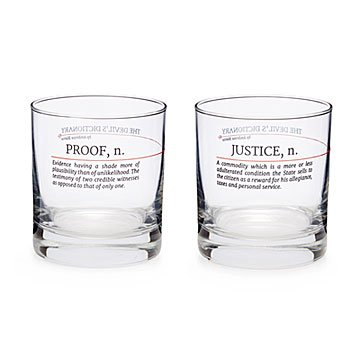 Devil's Dictionary Law Glasses - Set of 2
